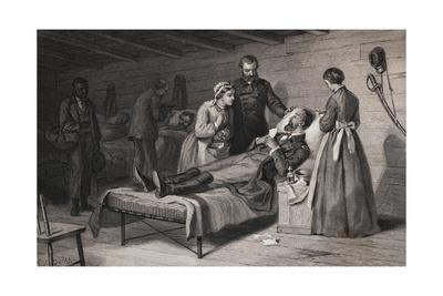 Civil War Soldier Dying in Bed