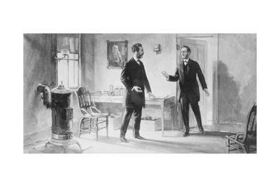 Painting of Alexander Graham Bell and Thomas A. Watson