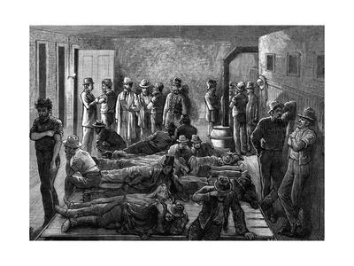 Engraving of Tramps Being Vaccinated