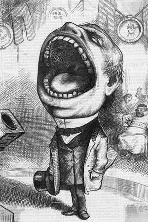 Mouthpiece Cartoon; Woodcut