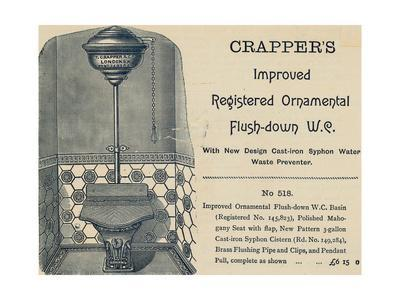 Advertisement for Crapper's Toilet