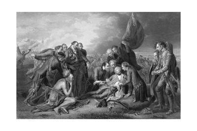 General James Wolfe Dying with Soldiers Surrounding Him