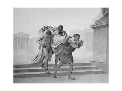 Julius Caesar Being Carried from Fatal Death Scene