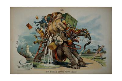 Roosevelt and Taft Cartoon