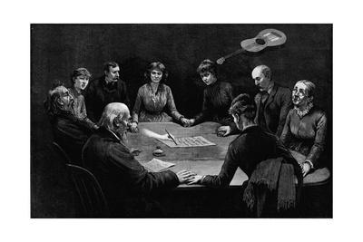 An Evening Seance Newspaper Illustration