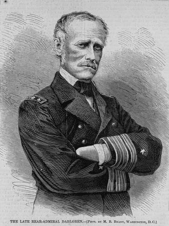 The Late Rear-Admiral Dahlgren. Phot. by M. B. Brady, Washington, D.C.
