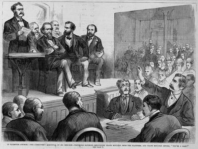 In Plymouth Church--The Committee's Acquittal of Mr. Beecher--Professor Raymond Denouncing Frank Mo