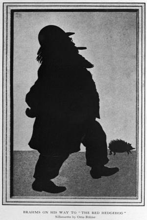 Cartoon of Johannes Brahms