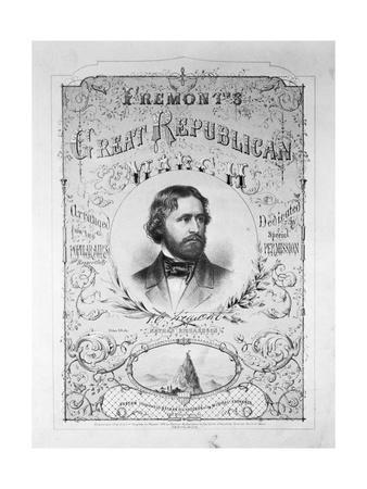 Printed Poster Advertisement for Republican Presidential Candidate John Charles Fremont