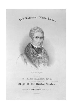 Printed Poster Advertisement for William Harrison a Whig Presidential Candidate