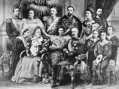 King Oscar II with Swedish Royal Family