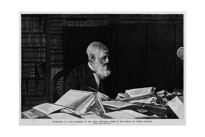 Washington D.C. - the Workshop of Our Great Historian - Scene in the Library of George Bancroft. Fr