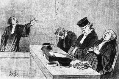 Lawyers falling Asleep before Judge