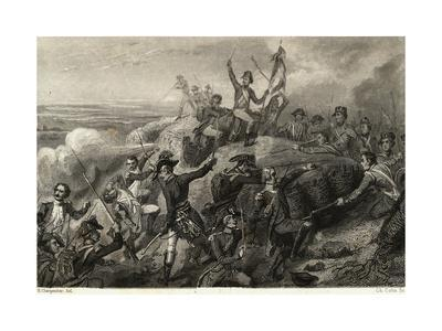 Napoleon and Army Fighting Battle
