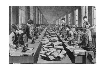 Seamstress Assembly Line in Factory