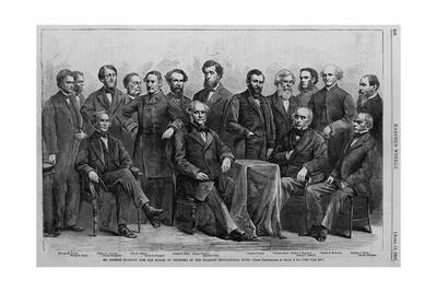 Mr. George Peabody and the Board of Trustees of the Peabody Educational Fund. from Photograph by Br