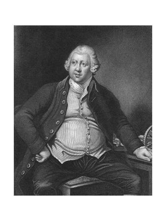 Engraving of Sir Richard Arkwright