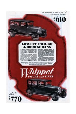 Color Advertisement for Whippet Cars with Full Cars