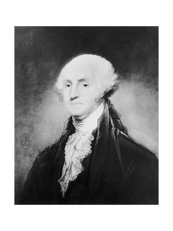 Bust=Style Painting of George Washington