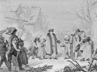 Louis XVI Dispersing Alms to Poor