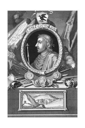 Engraving of Canute King of Danes