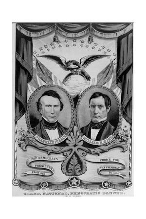 Franklin Pierce and William King on Election Poster