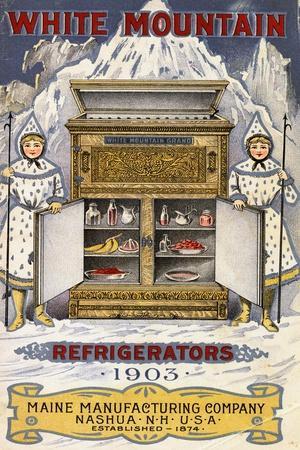 Advertisement for White Mountain Refrigerators