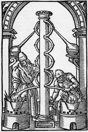 Illustration of Alchemists at Work