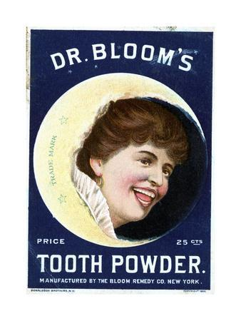 Cleaning Tooth Powder Girl Trade Card