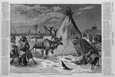 A Laplander's Encampment on the Neva at St. Petersburg.