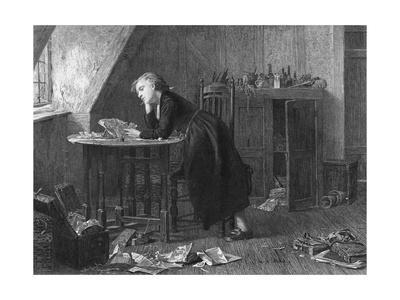 Thomas Chatterton Reading Papers at Desk