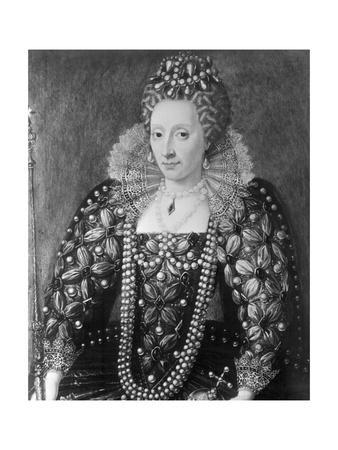 Decorative Painting of Queen Elizabeth I
