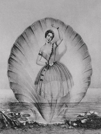 Drawing Depicting Ballerina on Beautiful Setting