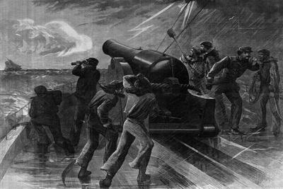 Union Navy Chasing Blockade Runner