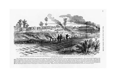 Confederates Burn Town