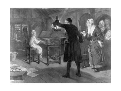 Young George Handel Playing the Cembalo
