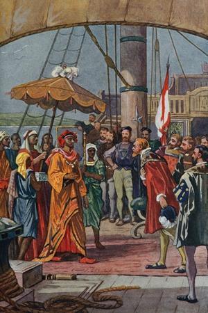 Sir Francis Drake Greeting Eastern Prince