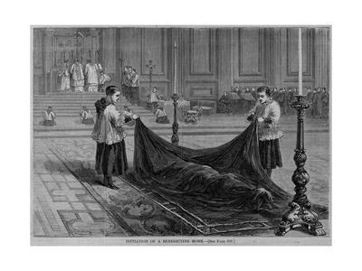 Initiation of a Benedictine Monk. See Page 219.