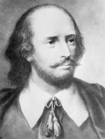 Illustrated Portrait of William Shakespeare