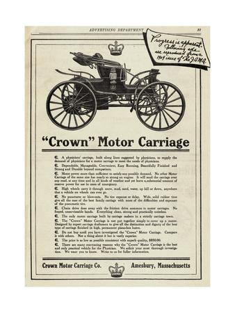 Advertisement for Crown Motor Carriage