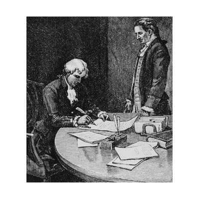 Illustration with Thomas Jefferson Approving the Louisiana Purchase