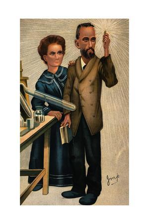 Madame Curie and Husband