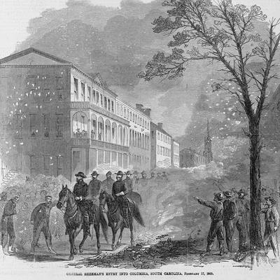 General Sherman's Entry into Columbia, South Carolina, February 17, 1865.