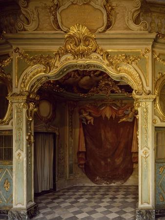 Detail of Decorations in Pope Pius VII Room, Palazzo Borea, Sanremo, Italy