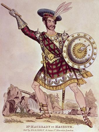 William Charles Macready as Macbeth, Engraved by M and B Skelt