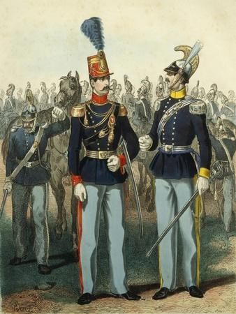 Uniform of Colonel of Genoa Cavalry and of Captain of Royal Equestrian Academy
