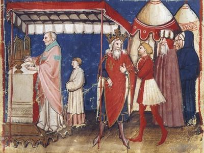 Celebrating Holy Mass for the Sovereign, Miniature, France 15th Century