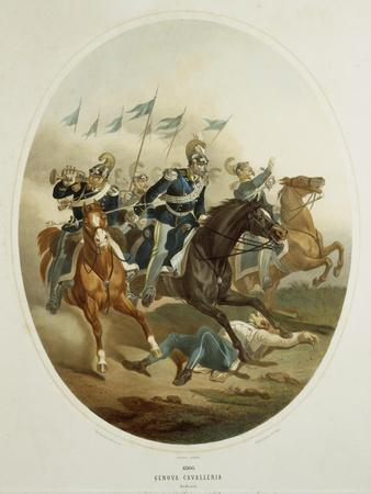 Charge of Genoa Cavalry, 1866