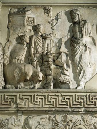 Relief of Aeneas Sacrificing to Penates, on Ara Pacis Augustae, Altar Built Between 13 and 9 B.C.