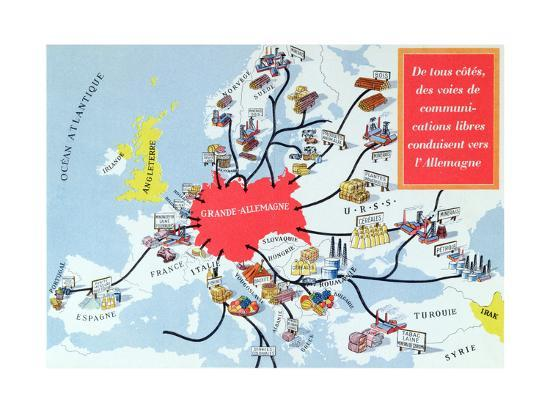 Map Of Germany In 1940.Map Of The Great Germany 1940 45 Giclee Print At Allposters Com